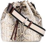 No.21 drawstring crossbody bag - women - Cotton/Calf Leather - One Size