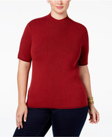 INC International Concepts Plus Size Mock-Neck Sweater, Only at Macy's