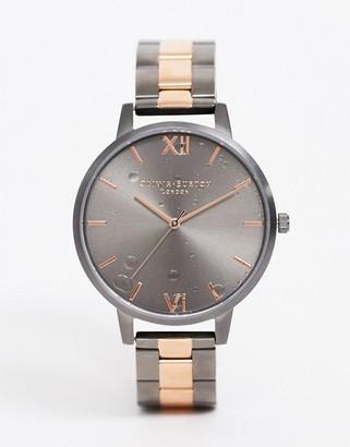 Olivia Burton Shoreditch water drop dial watch in mixed metal-Silver