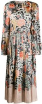 Valentino oriental print satin dress