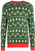 Urban Classics Christmas Crewneck Jumper Green/white/red