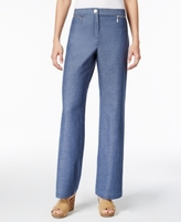 JM Collection Petite Zip-Pocket Pants, Created for Macy's