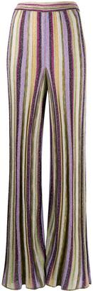 M Missoni Striped Wide-Leg Trousers