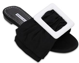 Thumbnail for your product : Manolo Blahnik Herrera 10mm Flaria Grosgrain Sandals