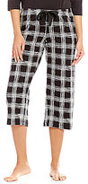 Hue HUEtopia Plaid Streak Capri Sleep Pants