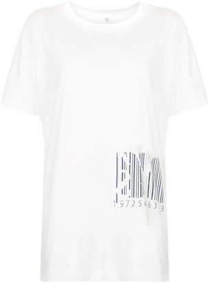 Y's oversized bar code sweatshirt