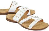 White Playa Leather Slide
