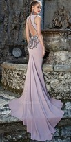 Tarik Ediz Grand rosestte evening dress