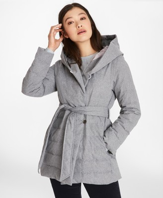 Brooks Brothers Flannel Down-Filled Wrap Coat