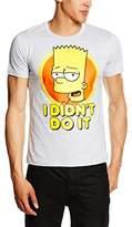 Logoshirt Men's Simpsons-Bart-I Didn ́T Do It Casual Shirt,XX-Large