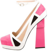 Aperlaï Coloblock Platform Pumps