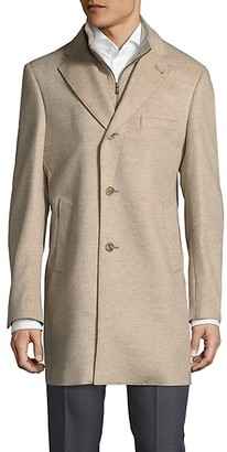 Saks Fifth Avenue Made In Italy Wool Topcoat