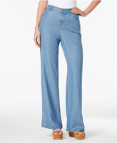 Style&Co. Style & Co River Wash Wide-Leg Jeans, Only at Macy's