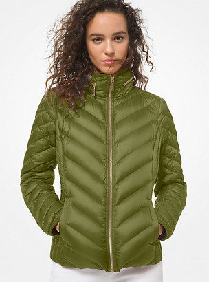 MICHAEL Michael Kors MK Quilted Nylon Packable Puffer Jacket - Ivy - Michael Kors