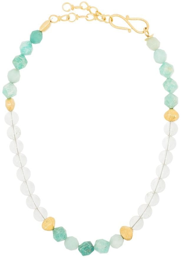 Apples & Figs Blue Lagoon gold-plated quartz necklace
