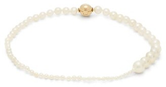 Sophie Bille Brahe Peggy Pearl And 14kt Gold Anklet - Womens - Pearl