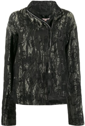 Romeo Gigli Pre Owned 1990s Floral Metallic Jacket