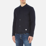 Folk Men's Bomber Collar Jacket Navy