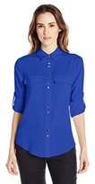 Ivanka Trump Women's Double Button Blouse