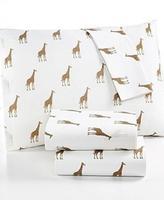 Martha Stewart Whim Collection 100 Cotton Sheet Set Sparkley Giraffes Queen