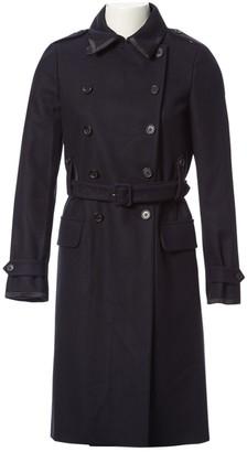 Miu Miu Navy Wool Coat for Women