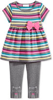 First Impressions 2-Pc. Striped Tunic & Leggings Set, Baby Girls', Only at Macy's