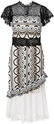 Sea lace cocktail dress