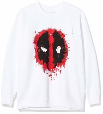 Marvel Boy's Deadpool Splat Face Sweatshirt