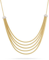 Marco Bicego Cairo 5-Strand Bib Necklace with Diamonds