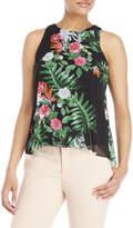 Vince Camuto Petite Havana Tropical Printed Sleeveless Top