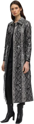 Stand Mia Printed Faux Leather Trench Coat