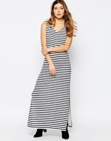 B.young Striped Jersey Maxi Dress