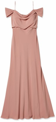 Jenny Yoo Women's Sabine Draped Off The Shoulder Crepe Gown