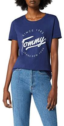 Tommy Jeans Women's Short Sleeve Crew Neck T-Shirt,Small