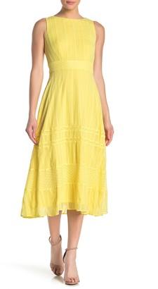 Taylor Embroidered Chiffon Midi Dress