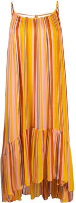 AllSaints Paola stripe midi dress