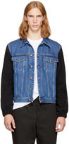McQ Blue and Black Sophisticated Denim Jacket