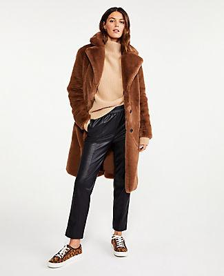 Ann Taylor Petite Faux Fur Coat