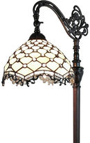AMORA Amora Lighting AM122FL12 Jeweled Reading Floor Lamp 62 In