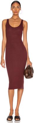 Enza Costa for FWRD Silk Rib Tank Dress in Garnet | FWRD