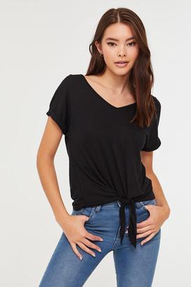 Ardene Soft Knotted V-neck T-shirt