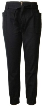 Tinseltown Juniors' Belted Cargo Jeans