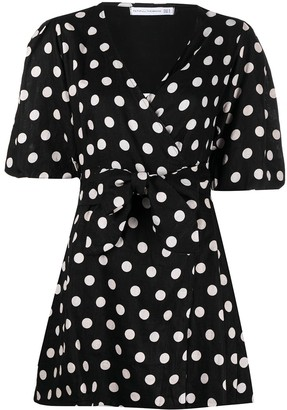 Faithfull The Brand Polka-Dot Wrap Dress