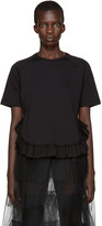 Simone Rocha Black Ruffled T-Shirt