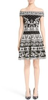 Alexander McQueen Women's Floral Jacquard Knit Dress