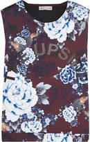 The Upside Muscle floral-print scuba-jersey tank