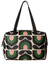 Orla Kiely Matt Laminated Stripe Tulip Print Zip Shopper Handbags