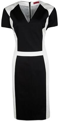 HUGO BOSS Hugo by Monochrome Paneled Cotton Kishima Dress L