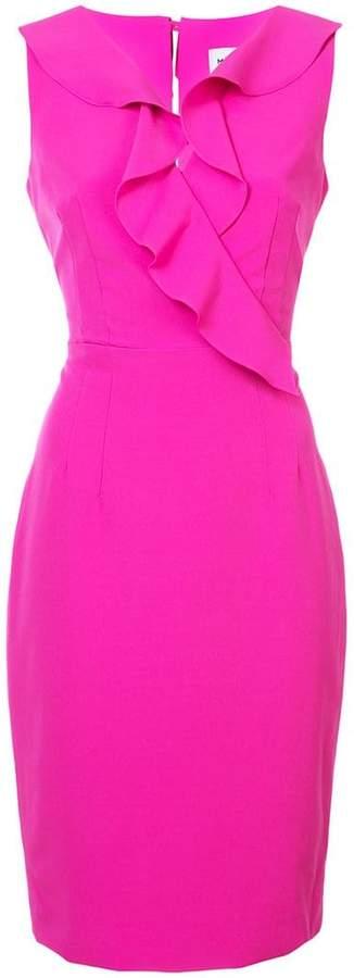 Milly ruffle trim pencil dress
