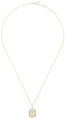 Mateo 14kt gold R initial diamond necklace